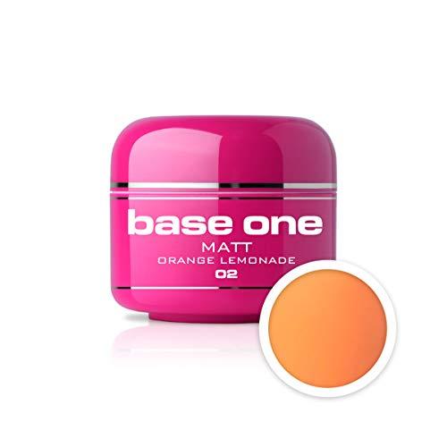 UV Gel de Couleur MAT N°02 - Orange Lemonade 5 ml Gel UV coloré Matt Look