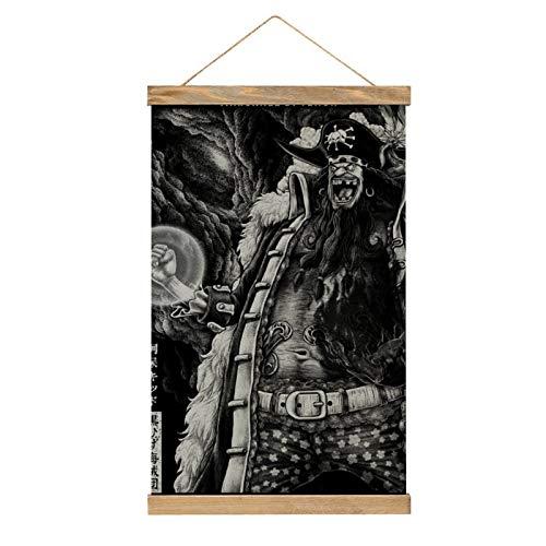 Lienzo de alta calidad para colgar un cuadro, diseño de Kurohige, mural, fácil de instalar, mural: 33.1 x 50.4 cm.