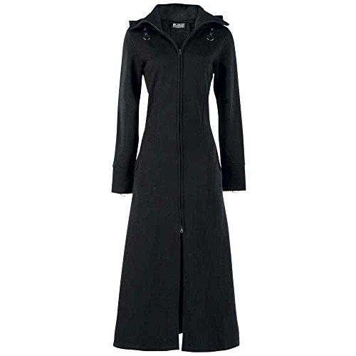 Poizen Industries - Raven Coat Mantel, schwarz, Grösse L