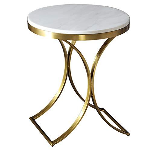 XDLYM Mesa Auxiliar para sofá, mesas de Centro con Tapa de mármol para el hogar, Mesa de té, para Sala de Estar, Dormitorio, Exterior e Interior