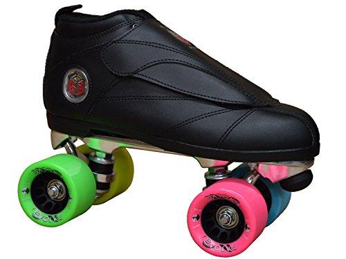 Epic Skates EvoBlkRbw05 Evolution Rainbow Quad Speed Skates, Black