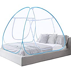 Mosquito Net Bed Canopy Pop Up Foldable Double Door Anti Mosquito Bites (180 * 200 * 150 cm)