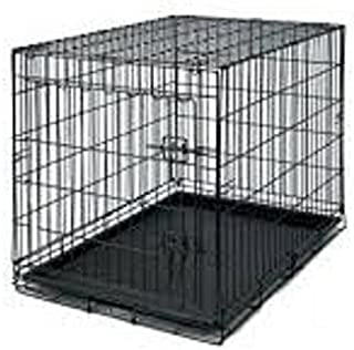 HANU Black 36 inch Cage/Crate/Kennel with Removable Tray for Dogs/Cats 045