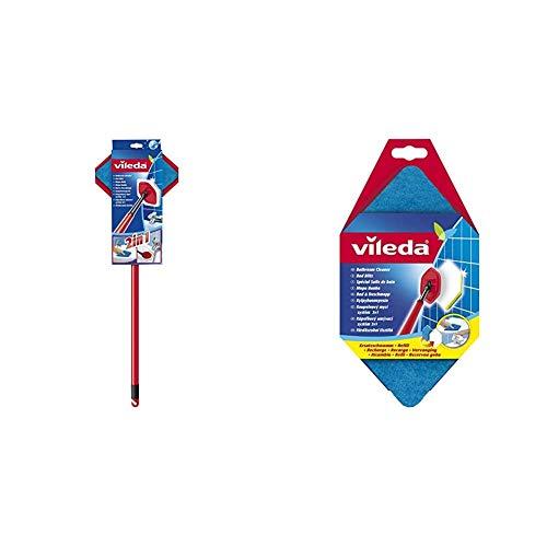 Vileda Bad Blitz Reinigungsgerät & Bad Blitz Ersatzschwamm, hexagonale Form, für die Badreinigung, kein Verkratzen