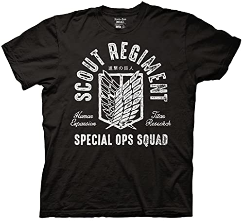 Ripple Junction Attack on Titan Scout Regiment Special OPS Squad Adult T-Shirt XL Black