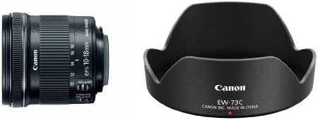 Canon EF-S 10-18mm f/4.5-5.6 IS STM Lens with Canon Lens Hood EW-73C