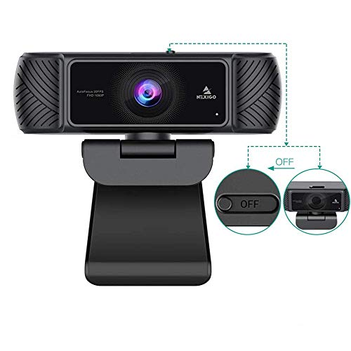 2020 Business Streaming 1080P Webcam with Microphone and Privacy Cover, NexiGo USB Web Camera, Plug and Play, for Online Class, Zoom Meeting YouTube Skype Facetime Teams, PC Mac Laptop Desktop