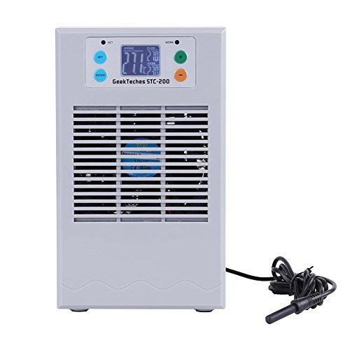 Akozon Wasserkühlung Heizung Maschine Aquarium Water Chiller Digital Temperaturregler Regler Thermostat Wasserkühler für Aquarium,Aquakultur Gewächshaus Temperatur Einstellbar 0℃-40℃ 20L/35L(35L 100W)