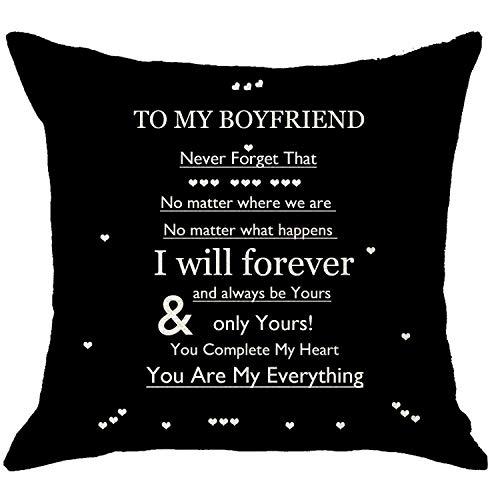 NIDITW Boyfriend Gift from Girlfriend Black Body Burlap Decorative...