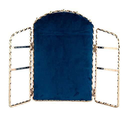 KaiWen Colgador De Joyas Soportes para Joyas Soporte De Exhibición De Joyas De Metal Collar Multifuncional Pendiente De Pie Soporte De Almacenamiento De Joyería (Color : Blue, Size : 11 * 27cm)