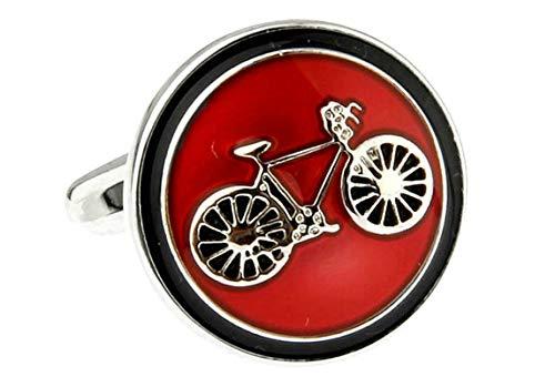 HIUYOO 2 PCS Manschettenknöpfe Männer Fahrrad Manschettenknöpfe Hochzeit Vintage Rot Manschettenknöpfe Werbegeschenk