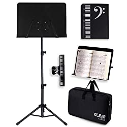 top rated Music stand GLEAM – 2 in 1 desktop book stand, metal, with carrying case 2021