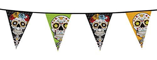 Boland 97020 filare 20 banderines Dia de los muertos, multicolor, color/modelo surtido, talla única