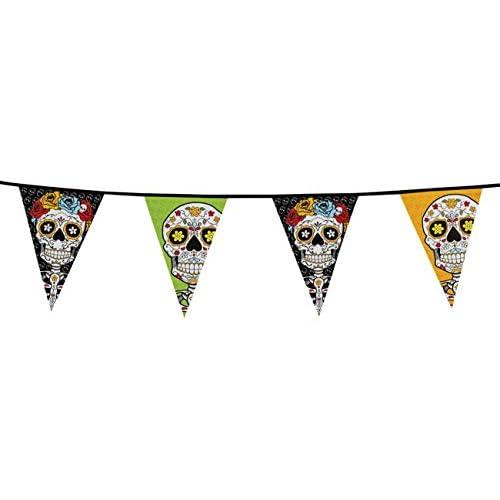 Boland- Filare 20 Bandierine Dia De Los Muertos, Multicolore, 97020