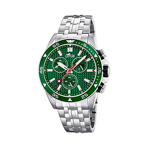 Lotus Herren Chronograph Quarz Uhr mit Edelstahl Armband 18640/2