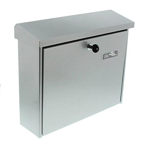 BURG-WÄCHTER, Briefkasten mit Öffnungsstopp, A4 Einwurf-Format, Verzinkter Stahl, Journal 5867 Si, Silber