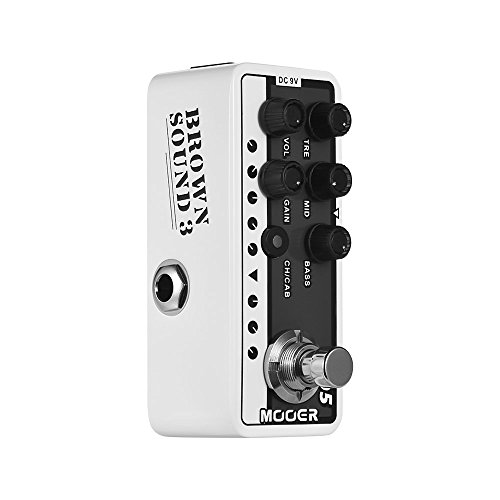 MOOER 005 BROWN SOUND 3 Digital Preamp Preamplifier Guitar Effect Pedal MICRO PREAMP Series Modern Day 80s True Bypass