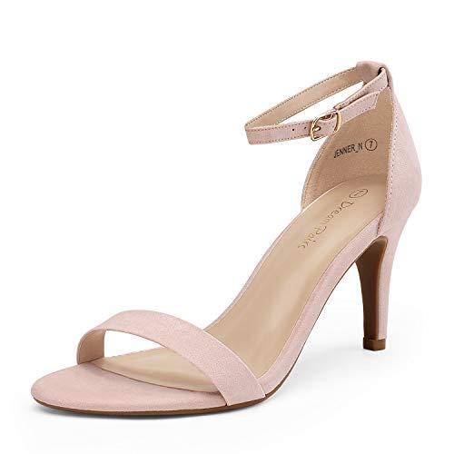 DREAM PAIRS Women's Jenner Pink Pumps Heel Sandals Size 10 US