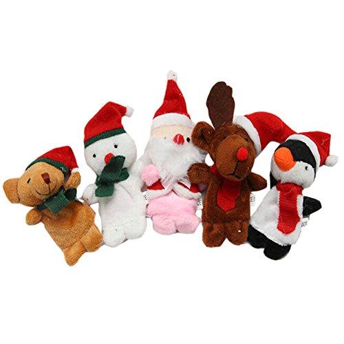 [Merry Christmas] 5 pcs marionnettes à doigts Tissu étage Lui Indiquent marionnettes pour enfants 0–3Y