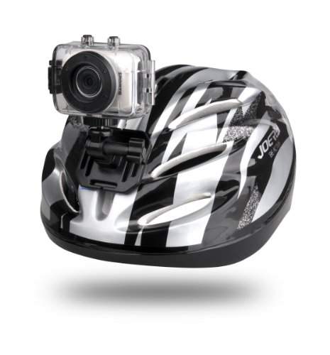 JAY-tech Action-Sport Camcorder DV 123 (5 Megapixel, 4-fach digitaler Zoom, 5,1 cm (2 Zoll) Touch Display, USB 2.0), Silber