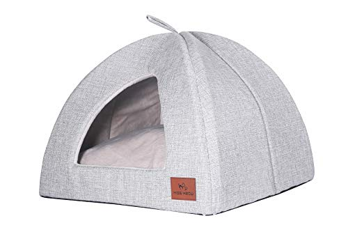 Miss Meow Cat Dog Tent Triangle Pet Bed...
