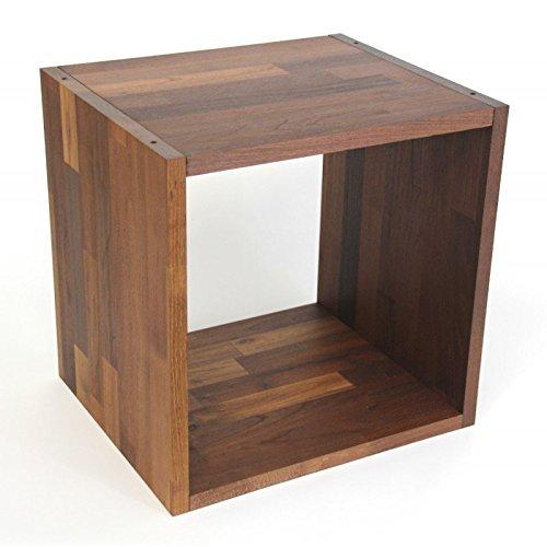 Isfort Holzhandels GmbH Flexicube Grundmodul Robinie geölt, fertig montiert, Regalwürfel aus Massivholz, zum Regal, Raumteiler, Bücherregal erweiterbar, schönes schokoladenfarbenes Holz