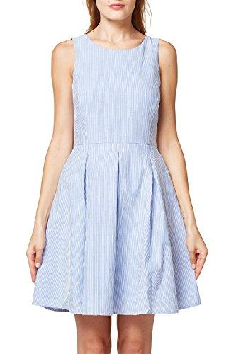 ESPRIT Damen 058EE1E014 Kleid, 420/GREY Blue, 40