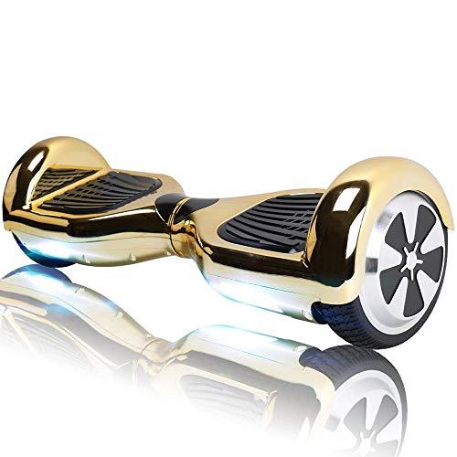 "Hoverboard Bluetooth - Enfant Super Cadeau, 6.5"" Overboard Tout Terrain Adulte Balance Board, Pas Cher LED Skateboard, Challenger Gyropode (Gold)"