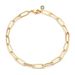 """Length of the delicate chain bracelet:6.5""""+ 2""""extender. Material of the cute bracelet:14K Gold Plated over brass. Never faded.Lead and nickel free. The dainty bracelet is a pretty gift for best friends, family,lover,sisters nieces or anyone on birthd..."""