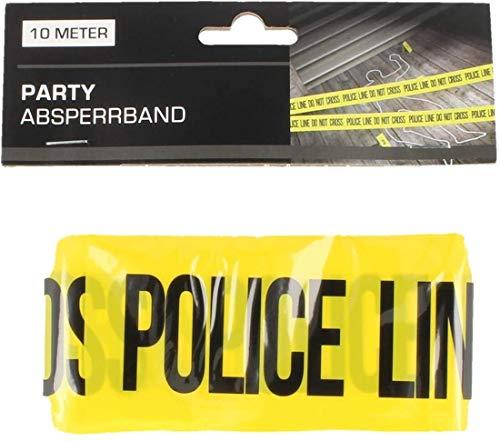 Party-Absperrband mit verschiedenen Motiven, 10 Meter x 6 cm POLICE LINE DO NOT CROSS
