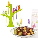 Nouveau Birdie fruit fourchette oiseaux sur l'arbre dessert gâteau vaisselle Party fruits bâtons ensemble décor de fête d'approvisionnement en vente