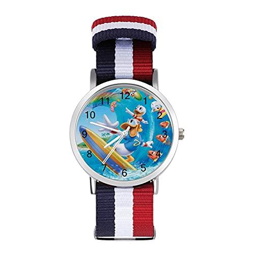 Los relojes Donald Duck son impermeables, versátiles, informales, para estudiantes, hombres, mujeres, deportes, moda y temperamento simple anime de dibujos animados