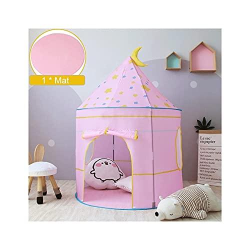 WBJLG Tienda de campaña portátil Playhouse para niños Tienda de campaña Plegable Tipi Star Castle bebé Interior al Aire Libre Lindo Juguete para niños Juegos al Aire Libre