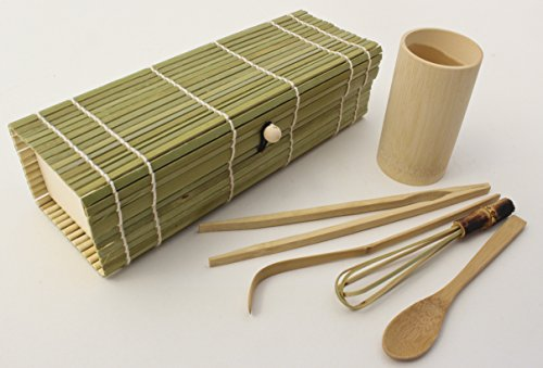 Zoie + Chloe Set de regalo de té Matcha Japonesa de bambú 100% natural