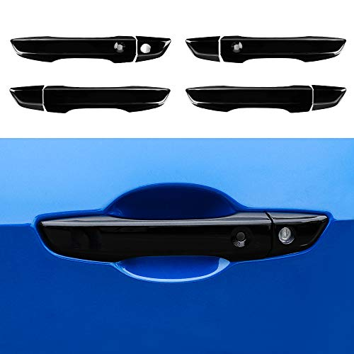 Thenice for 10th Gen Civic ABS Door Handle Cover Exterior Decoration for Honda Civic 2017 2018 2019 2020 2021 With Smart Auto Lock Holes -Black