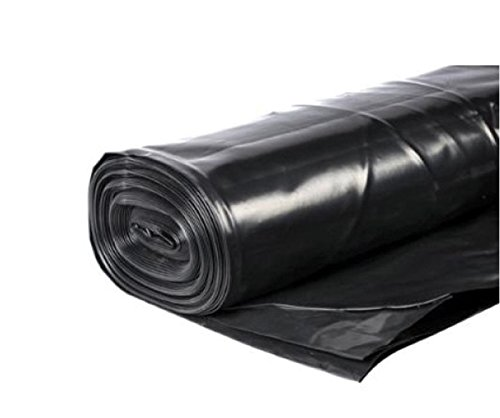 PDL 4m 1000G BLACK HEAVY DUTY POLYTHENE PLASTIC SHEETING GARDEN DIY 250MU...