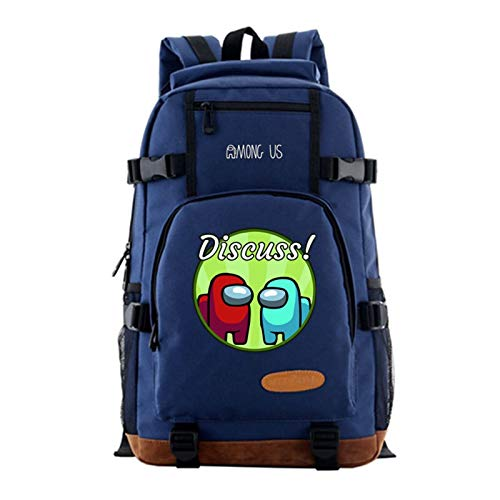 Zzlush Among Us Backpack Bags 2020 Among Us Schoolbag For Kids Men Boy's New Game Among Us Backpack College Preppy Oxford Fashion Street Casual Bagpack Middle School Student Bag for Boy Girl