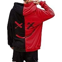 Overdose Sudadera Hombres Patchwork Slim Fit Hoodie OtoñO Moda Outwear Nueva Blusa Adolescente Top 2018 Sudadera (Medium, Rojo)