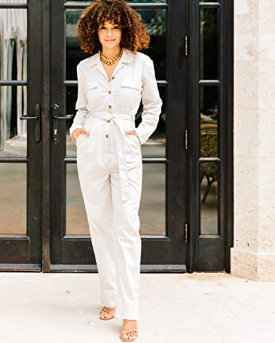 The Drop Women's Ivory Utility Jumpsuit by @scoutthecity, S