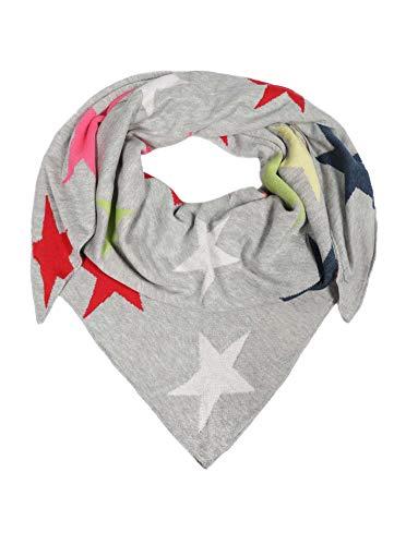 Zwillingsherz Dreieckstuch aus Baumwolle - Hochwertiger Schal mit Sternen für Damen Jungen Mädchen - Uni - XXL Hals-Tuch und Damenschal - für Herbst Frühjahr Sommer hgr