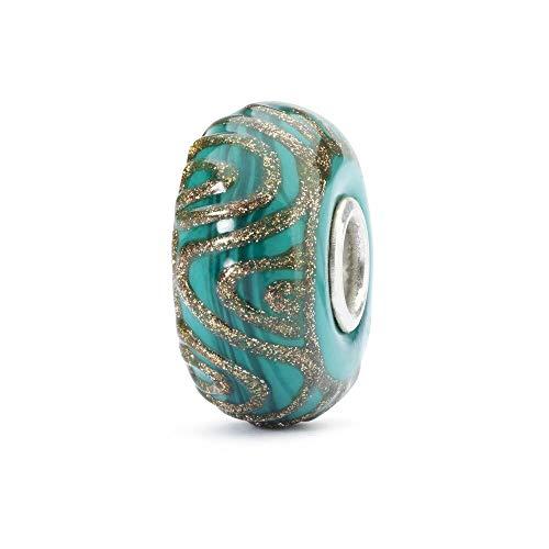 Preisvergleich Produktbild TROLLBEADS Damen-Bead 925 Silber Glas Perle grün - TGLBE-10406