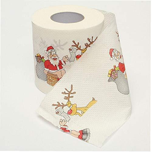 Yililay Seidenpapier, Weihnachtsmann Druck Weihnachten Toilettenpapier Haushalt Gewebe oder Private Toilette Web Neujahr Home Decoration