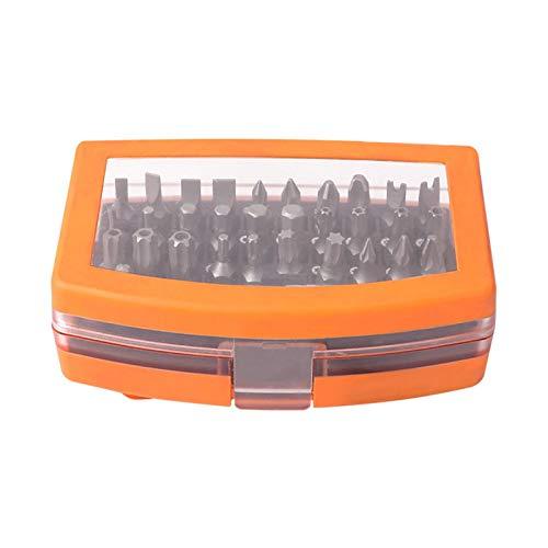 POHOVE Juego de destornilladores de cabeza de 32 piezas para teléfono celular con caja de almacenamiento multifunción cromo vanadio aleación acero destornillador Bit Set herramienta de reparación