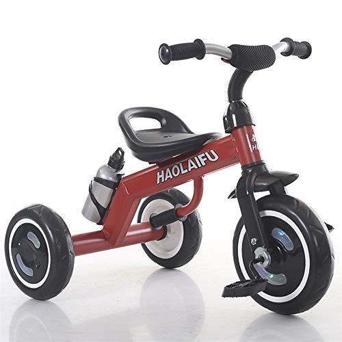 AJH Dreirad beweglicher Standplatz 1~8 Kinder Tricycle Pedale Von Tricycles Tricycles für Kinder Kinder Kinder Landau,Rot