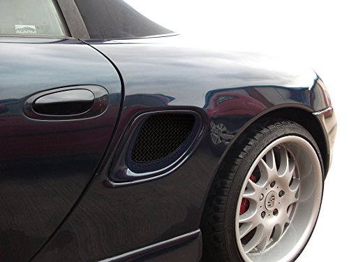 Zunsport Compatible with Porsche Boxster 986 - Side Vent Set - Black Finish (1996 to 2004)