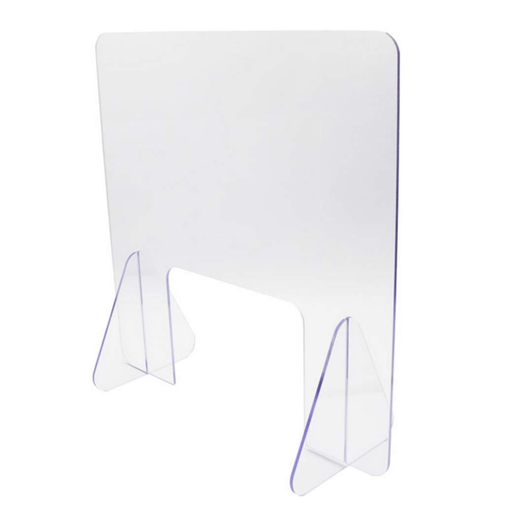 HSBAIS Mampara De ProteccióN, Acrílico Mampara mostrador con ventanilla Mampara Pantalla Proteccion Pantalla de protección para mostrador, mesas, oficinas y comercios,50x50cm: Amazon.es: Hogar