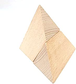 StarMall Wooden Puzzling Pyramid Kongming Lock Brain Teaser Puzzles for Kid
