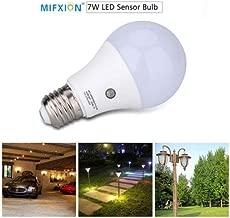 cjc E27 LED Dusk to Dawn Sensor Light Bulbs Built-in Photosensor Detection Auto Switch Light Indoor/Outdoor Lighting Lamp for Porch Hallway Patio Garage (7W 630Lumens, Natural White 4000K)