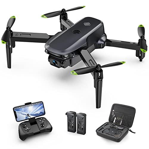 Sansisco Mini Drone con Cámara 1080P para Adultos, Plegable Drone Vuelto de 20 Mins, Múltiples Modos de Vuelo, Fotografía de Gesto, Control de Gravedad, Drone para Principiantes Bolsa de Transporte