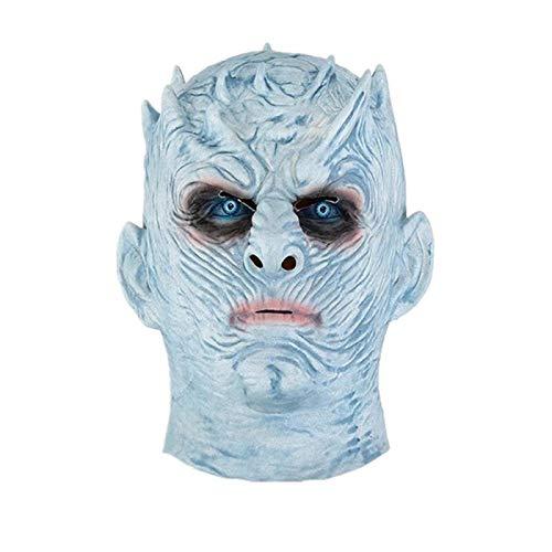 Mscara de Halloween Juego de Tronos Mscara de Halloween Noche de Rey Walker Cara Zombie Mscaras de Ltex Fiesta Mascarada Cosplay Mascara de miedo 05